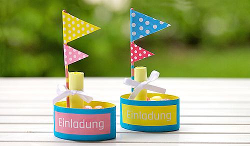 Bekannt Upcycling: Einladung für den Kindergeburtstag basteln: www.kamina.de BJ61